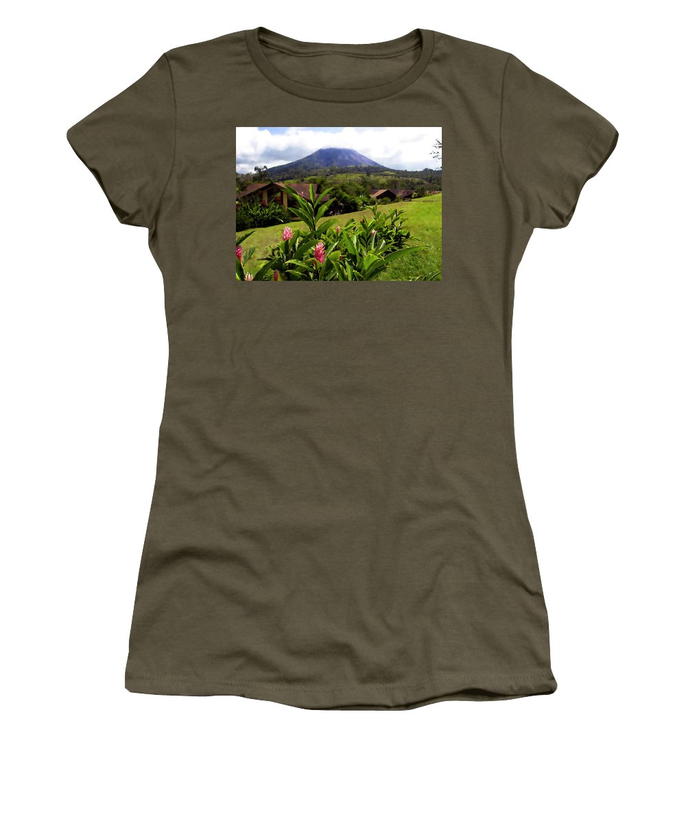 Tropical Women's T-Shirt (Athletic Fit) featuring the photograph Arenal Costa Rica by Kurt Van Wagner