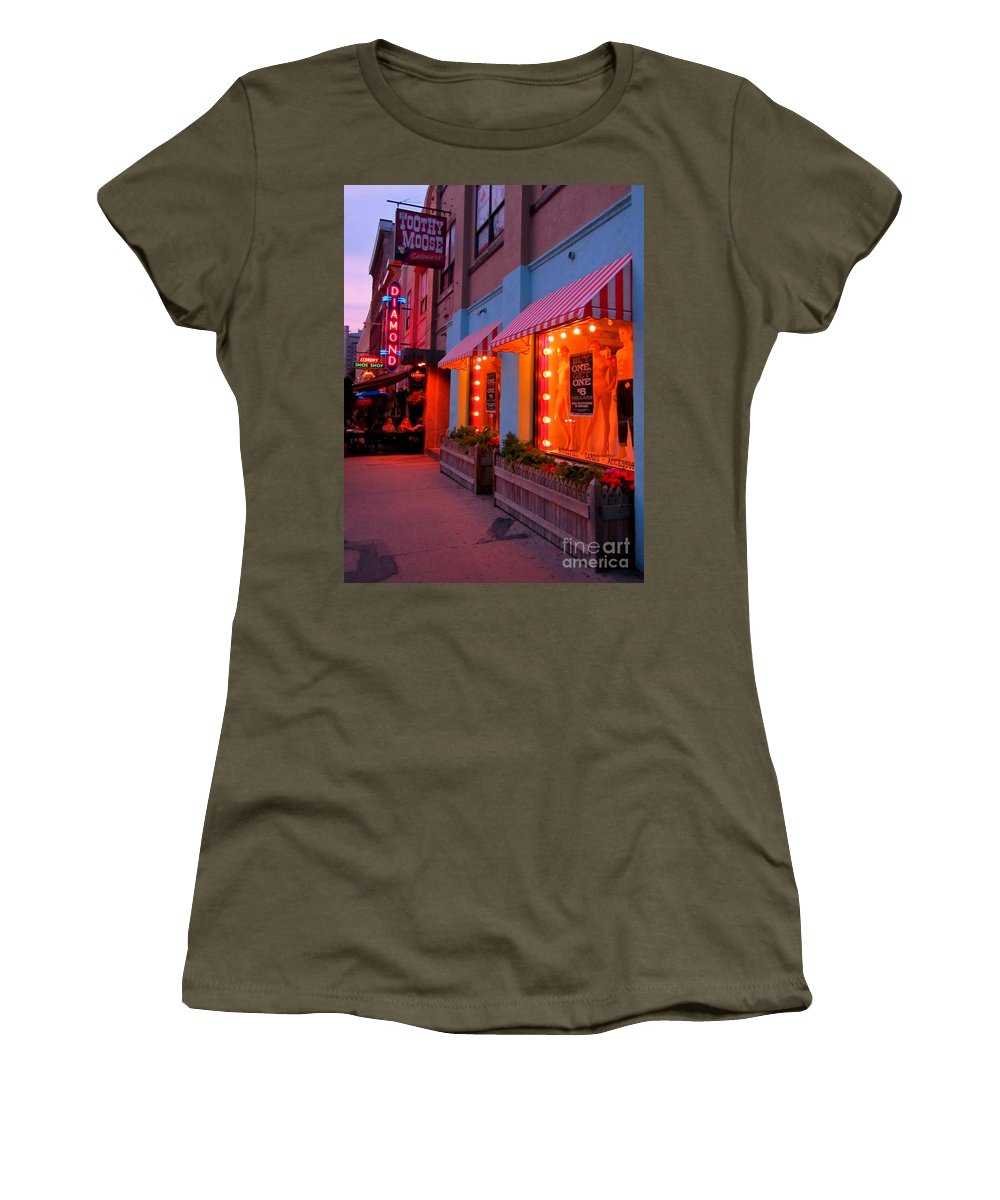 Streetscapes Women's T-Shirt featuring the photograph Argyle Street Halifax by John Malone