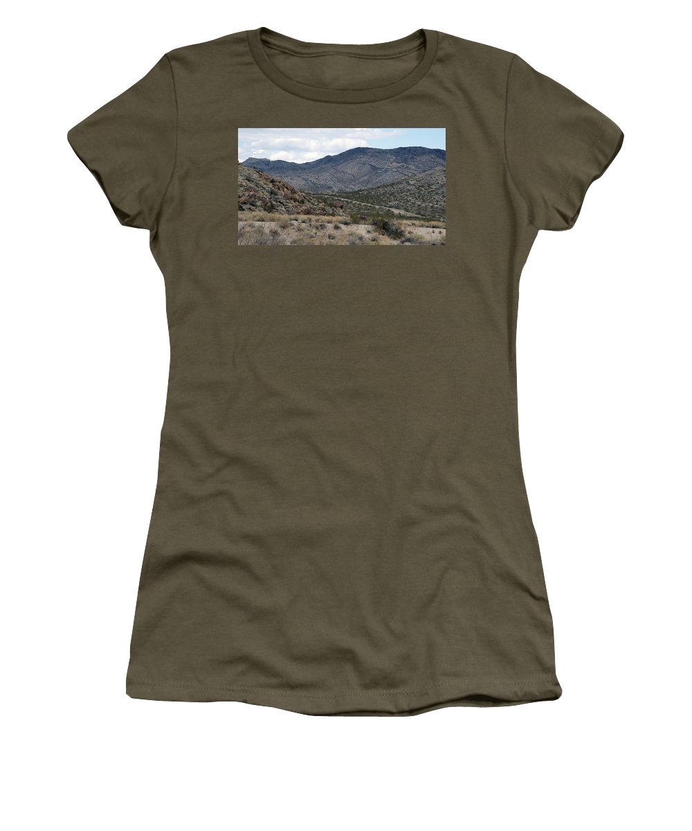 Arizona Women's T-Shirt (Athletic Fit) featuring the photograph Arizona Mountains by Crystal Harman