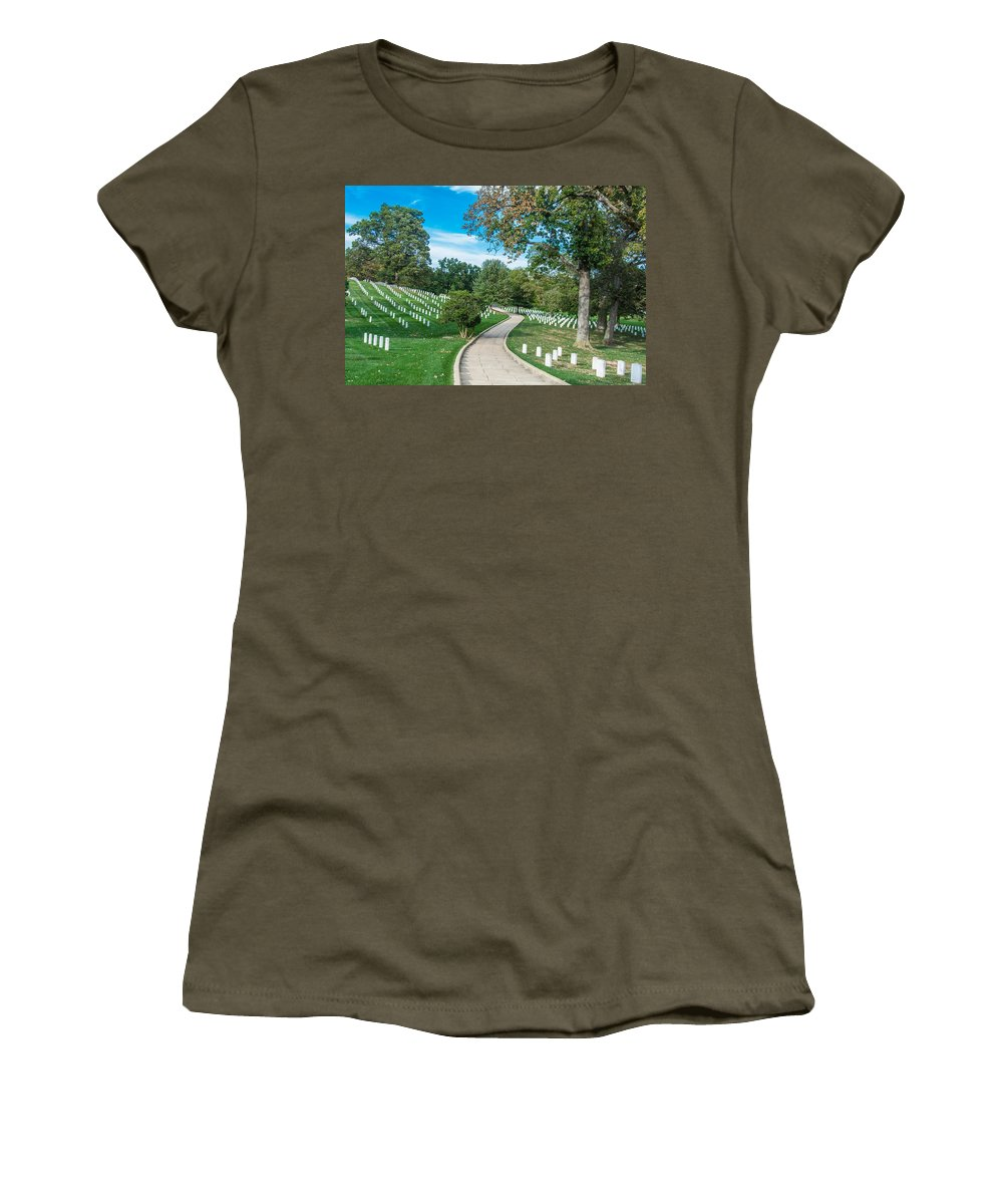 Cemetery Women's T-Shirt featuring the photograph Arlington National Cemetery Part 2 by Alex Hiemstra