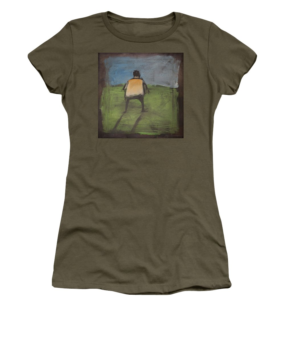 Rothko Women's T-Shirt featuring the painting art critic relieves himself on Rothko's field by Tim Nyberg