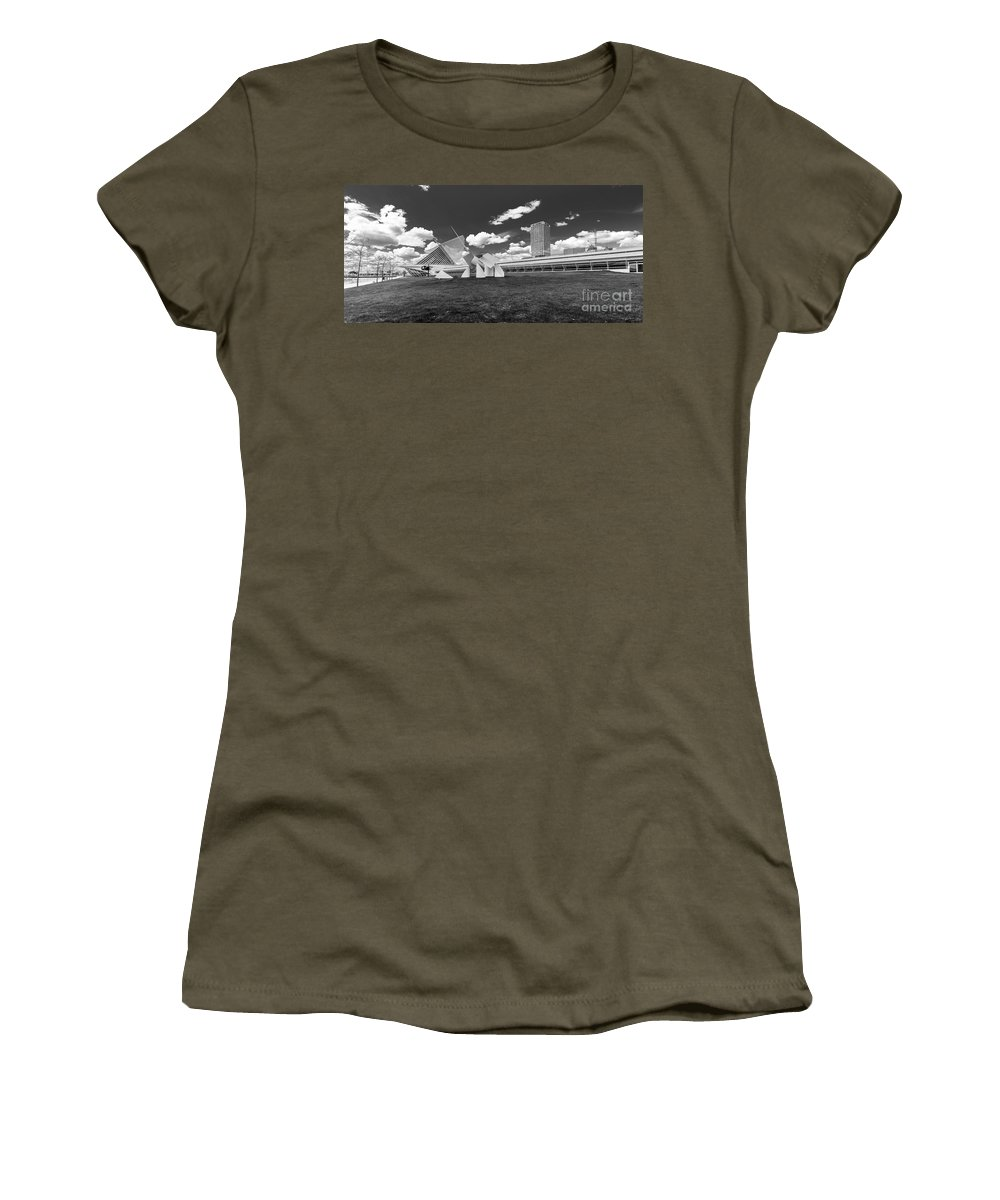 Art Women's T-Shirt featuring the photograph Art Over A Field Of Grey by Andrew Slater