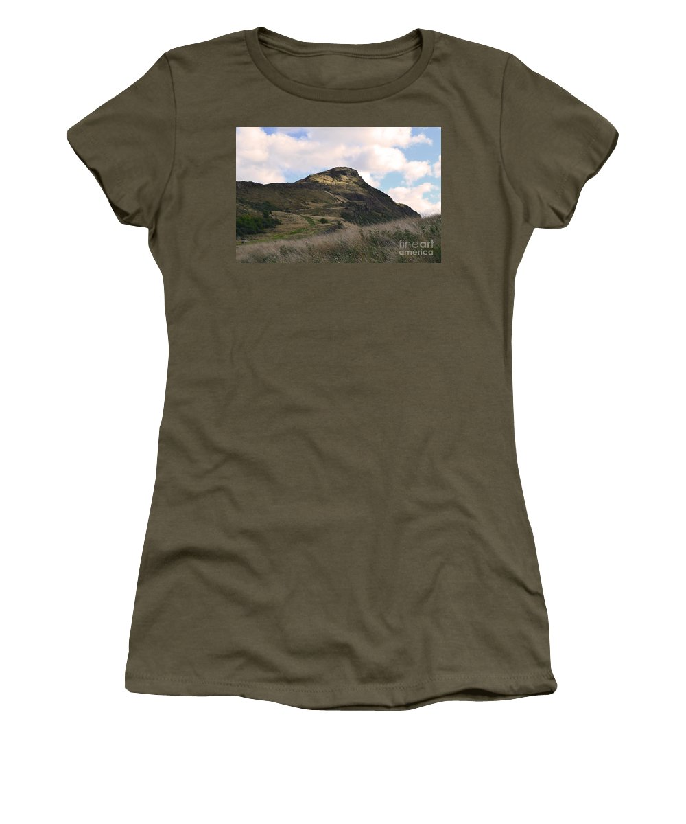 Scotland Women's T-Shirt featuring the photograph Arthur's Seat In Edinburgh by DejaVu Designs
