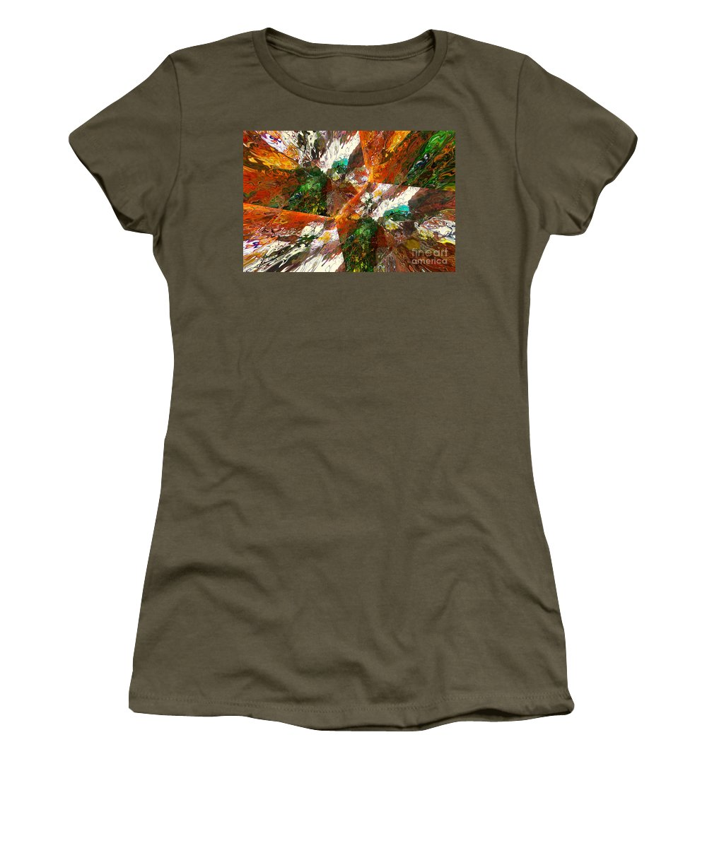 Hotel Art Women's T-Shirt featuring the digital art Autumn Abstract by Margie Chapman