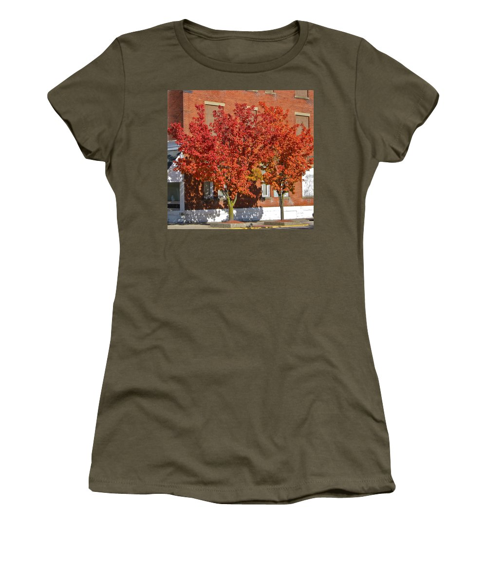 Tree Women's T-Shirt featuring the photograph Autumn Glory by Denise Mazzocco