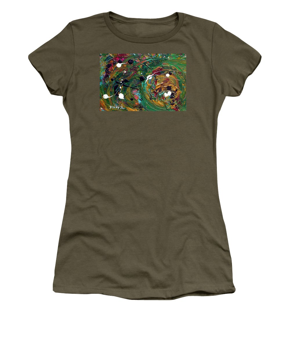 Autumn Women's T-Shirt featuring the painting Autumn Gold by Donna Blackhall