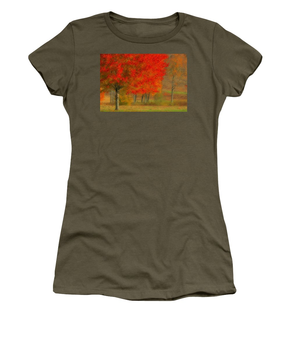 Autumn Women's T-Shirt featuring the photograph Autumn Popping by Karol Livote