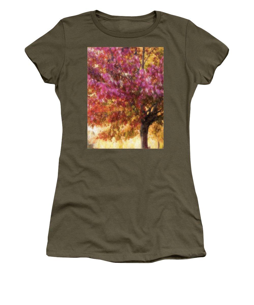 Fall Women's T-Shirt featuring the photograph Autumn Xvii by Tina Baxter