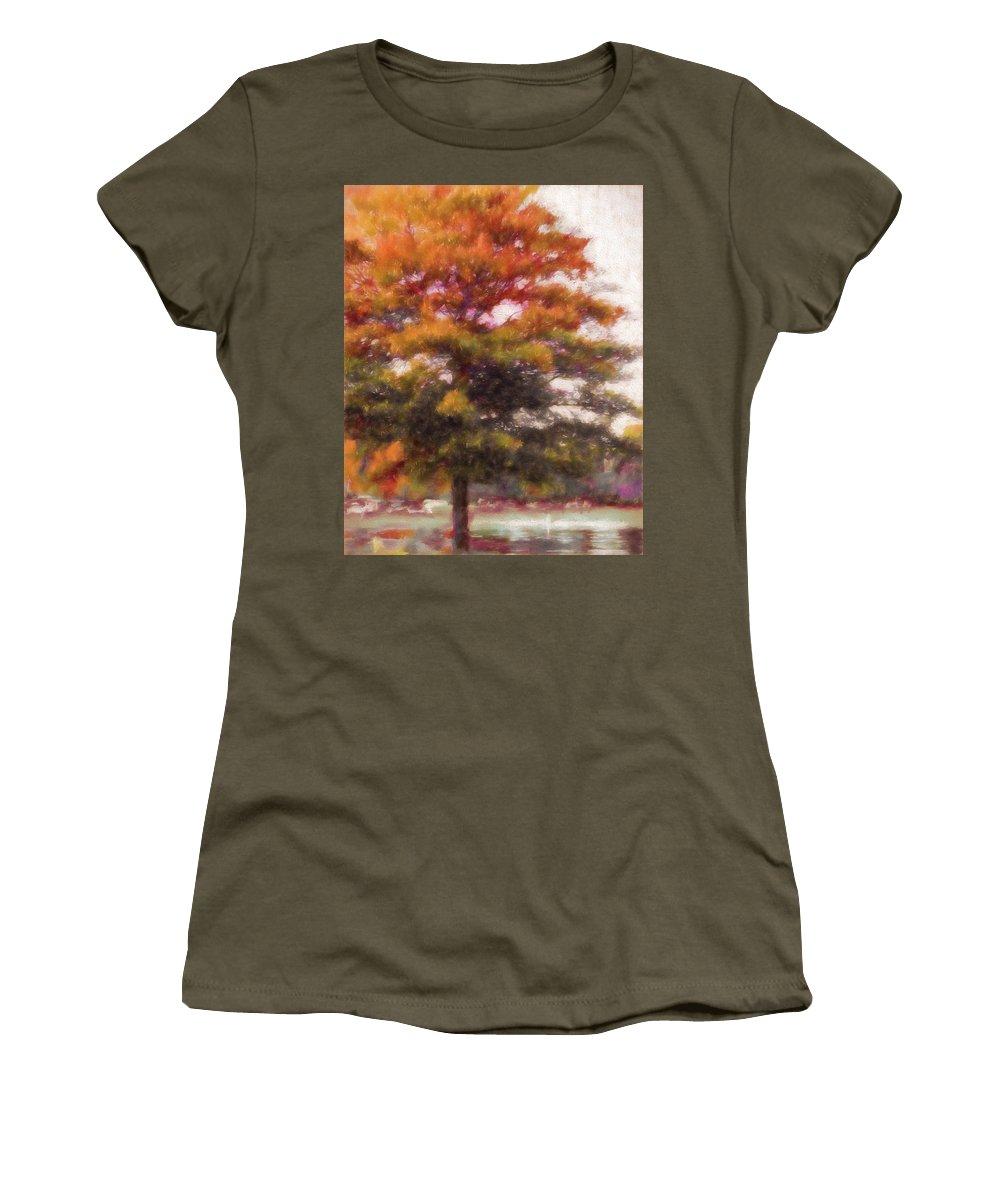 Fall Women's T-Shirt featuring the photograph Autumn Xviii by Tina Baxter