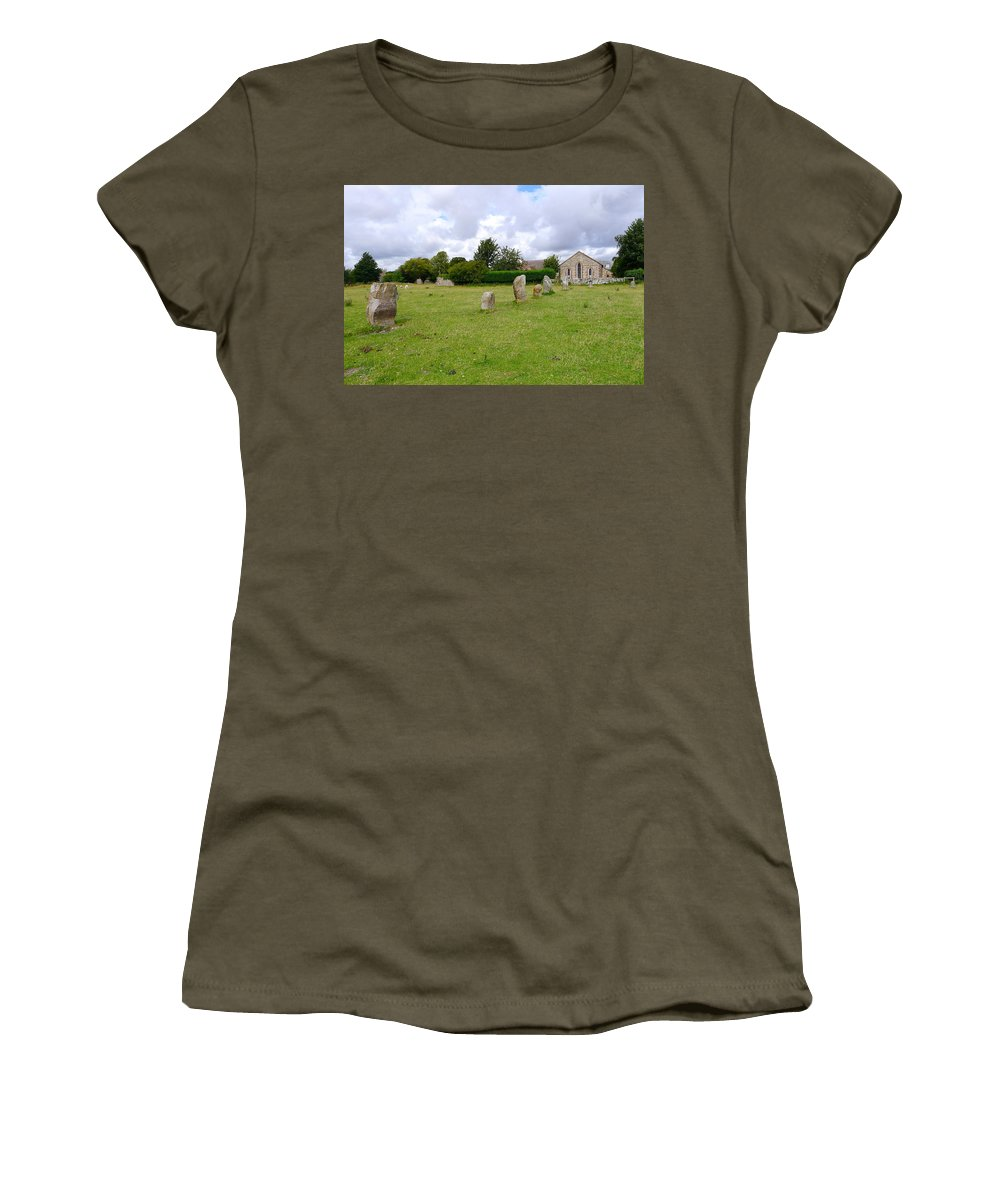Avebury Women's T-Shirt featuring the photograph Avebury Aligned Stones by Denise Mazzocco