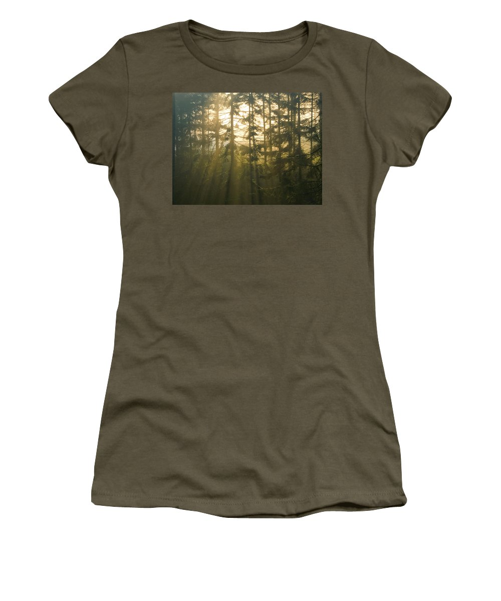 Light Women's T-Shirt (Athletic Fit) featuring the photograph Awe by Daniel Csoka