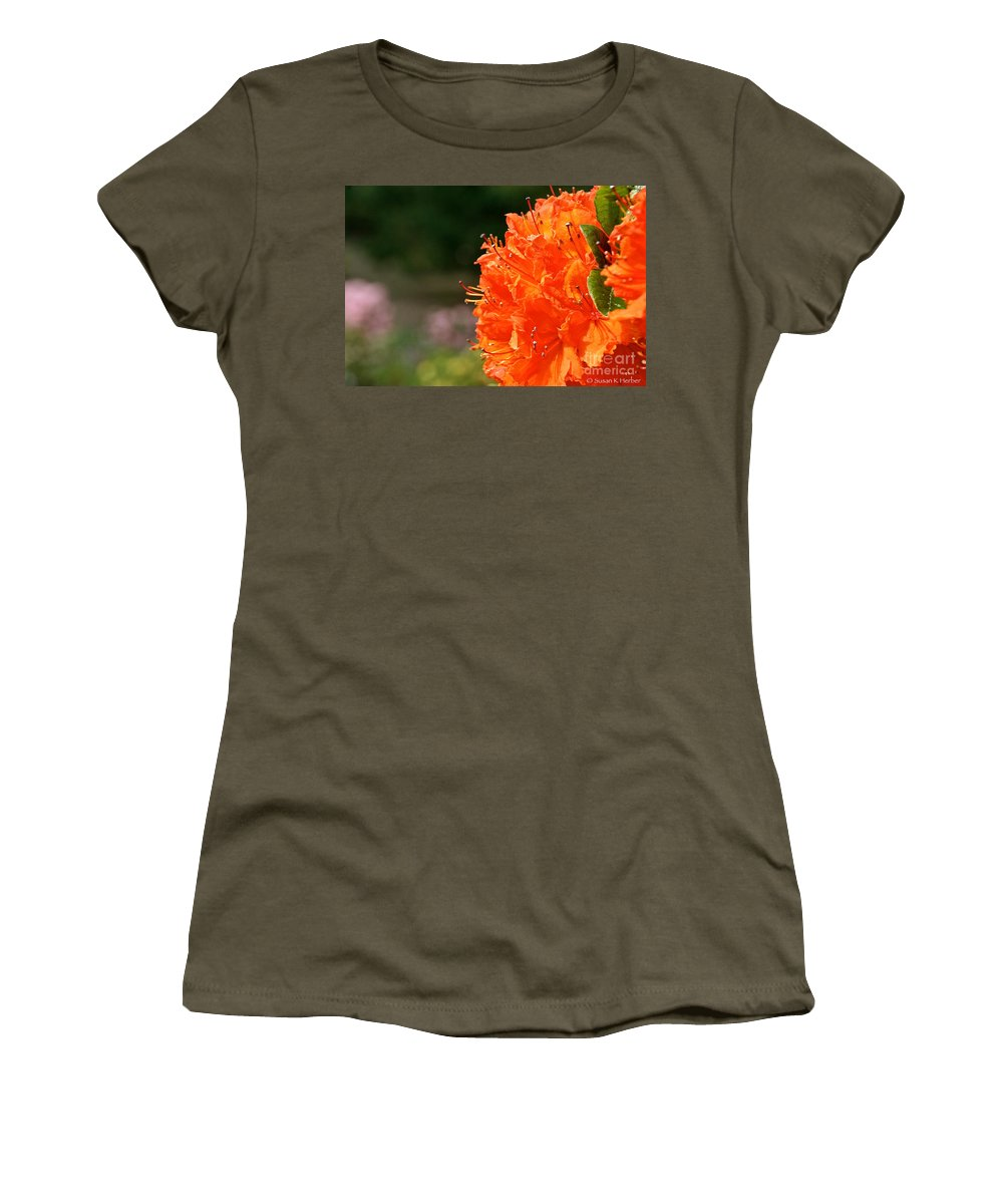 Flower Women's T-Shirt featuring the photograph Azalea Profile by Susan Herber