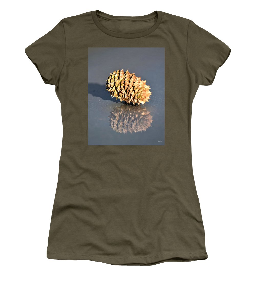 Baby Pine Cone Women's T-Shirt featuring the photograph Baby Pine Cone by Maria Urso