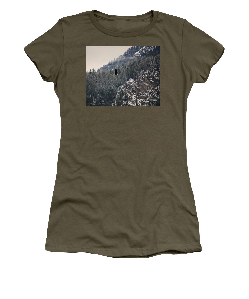 Bald Eagle Women's T-Shirt featuring the photograph Bald Eagle V I by Sharon Elliott