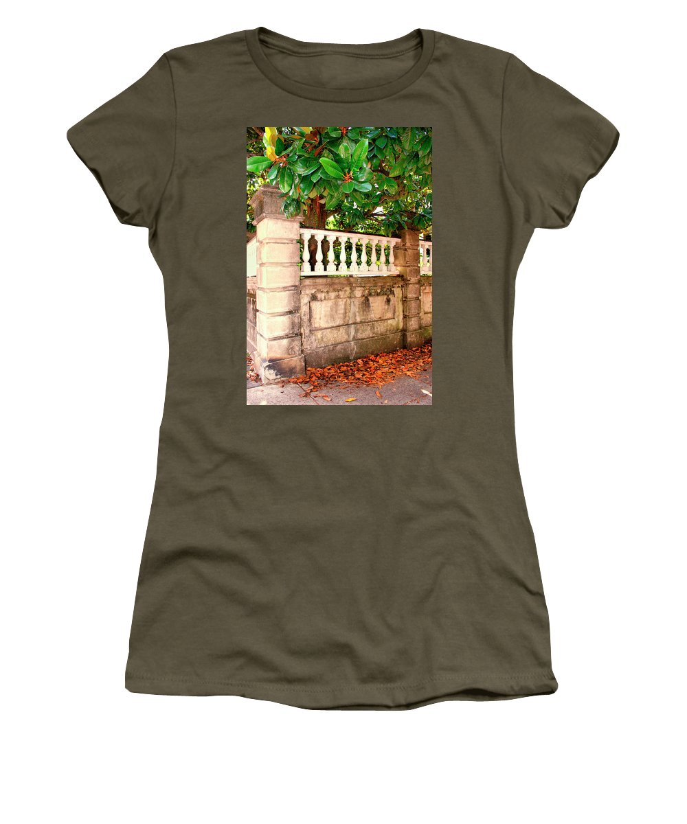 Charleston Women's T-Shirt featuring the photograph Balustrade Charleston Sc by William Dey