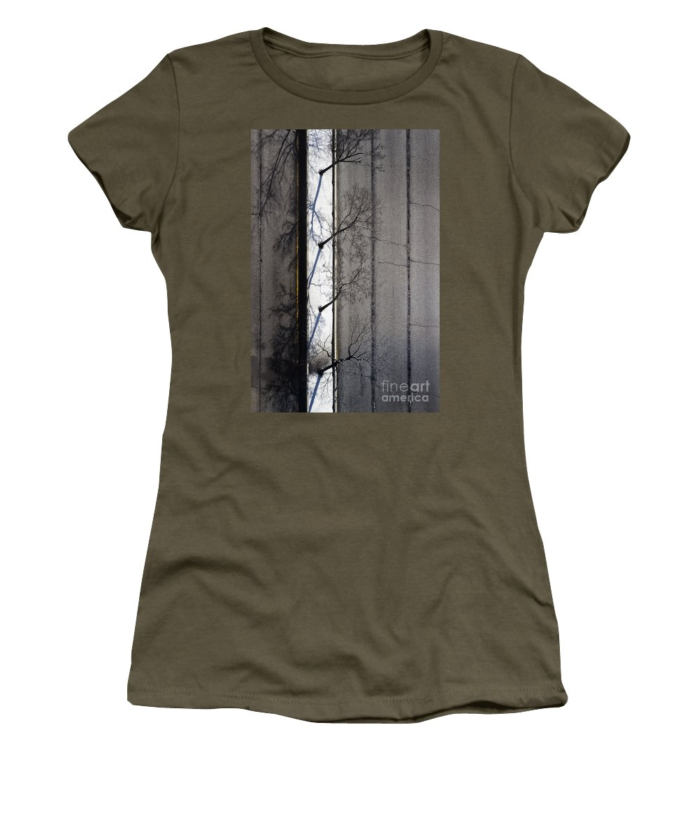 Road Women's T-Shirt featuring the photograph Bare Trees by Margie Hurwich