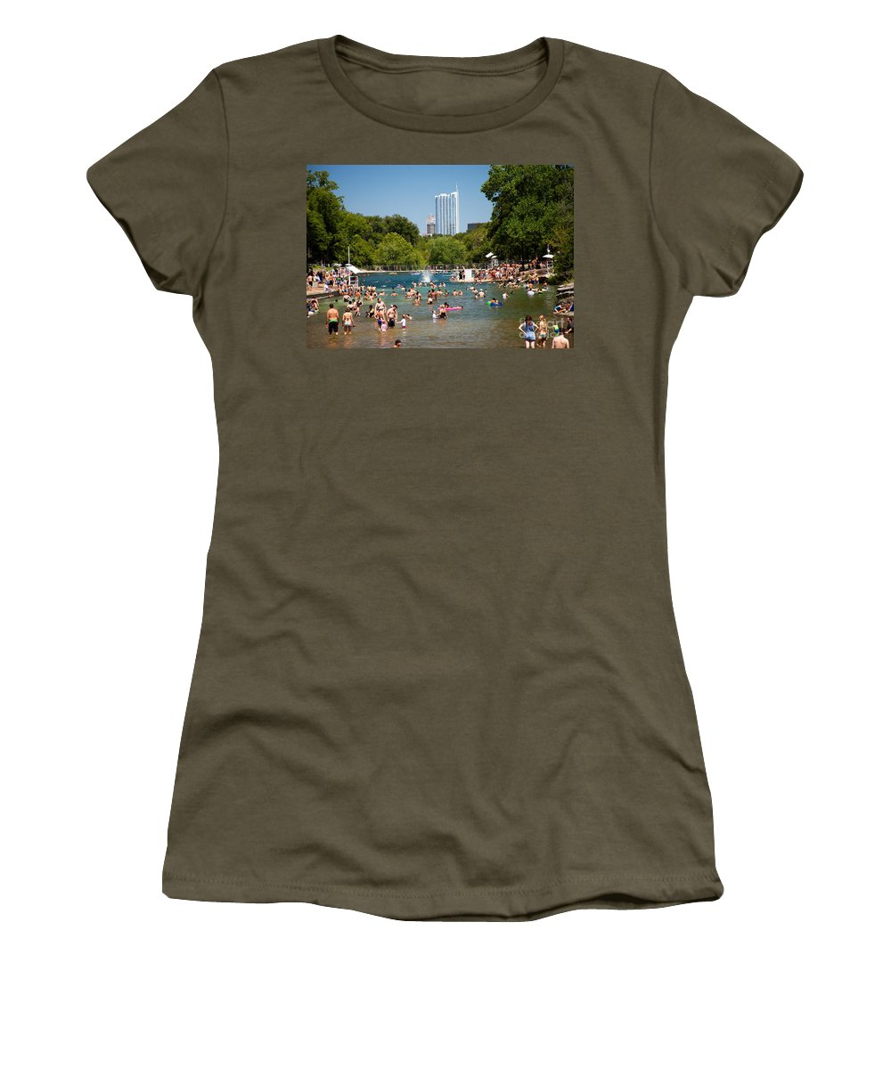 Barton Springs Pool Women's T-Shirt featuring the photograph Barton Springs Pool by Randy Smith