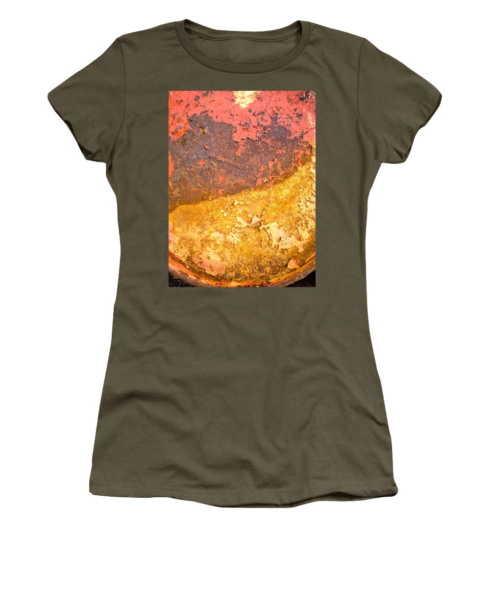 Rust Women's T-Shirt featuring the photograph Battered To Rust by The Artist Project