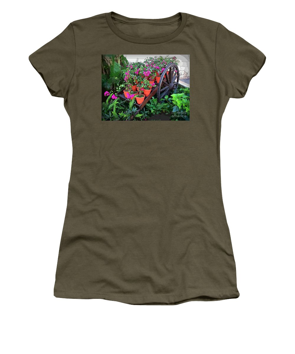 Beautiful Flower Wagon Women's T-Shirt featuring the photograph Beautiful Flower Wagon by John Malone
