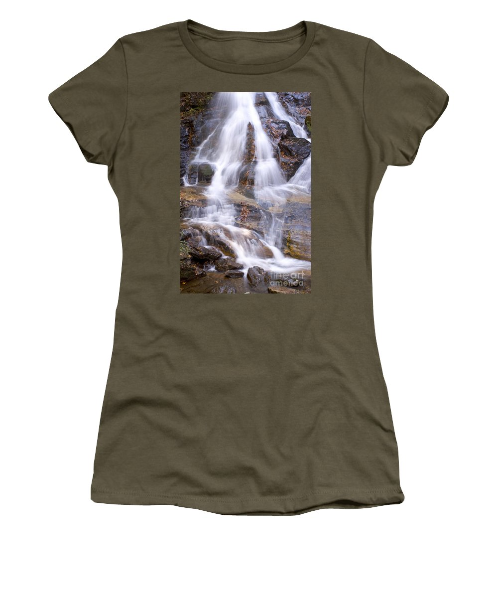 Waterfall Women's T-Shirt (Athletic Fit) featuring the photograph Bell Shoals by Thomas Levine