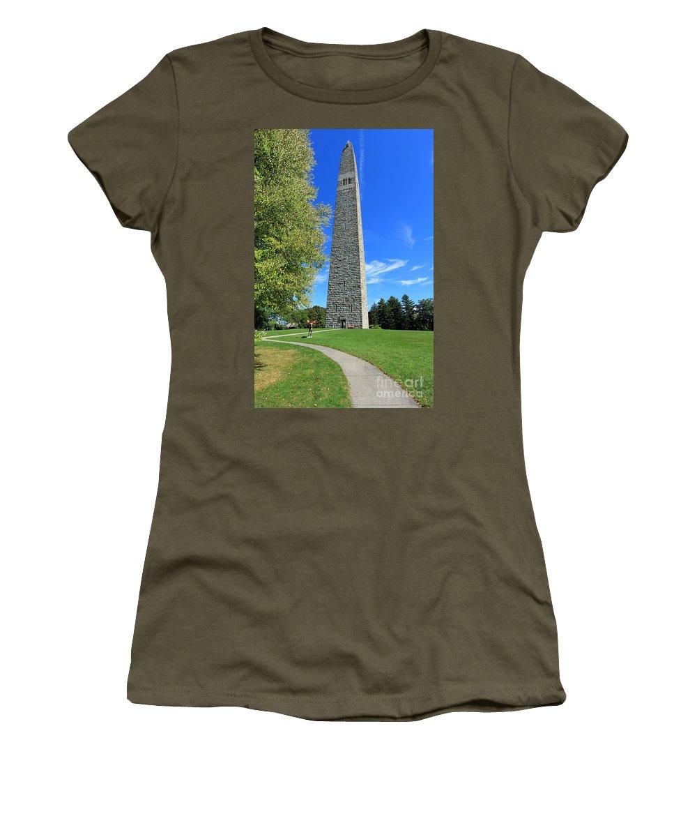 Bennington Monument Women's T-Shirt featuring the photograph Bennington Monument by Trina Ansel