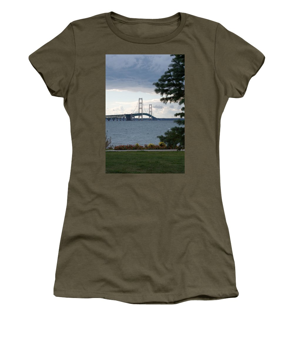 Clouds Women's T-Shirt (Athletic Fit) featuring the photograph Beyond The Tree by Linda Kerkau