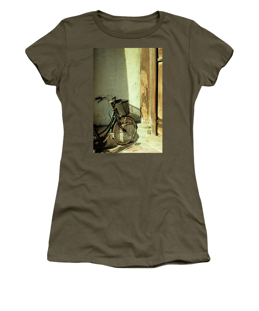 Vietnam Women's T-Shirt (Athletic Fit) featuring the photograph Bicycle 02 by Rick Piper Photography