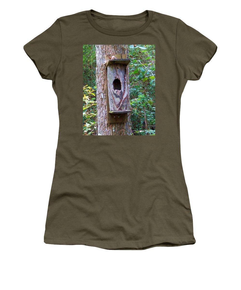 Bird Women's T-Shirt featuring the photograph Bird House by Chuck Hicks