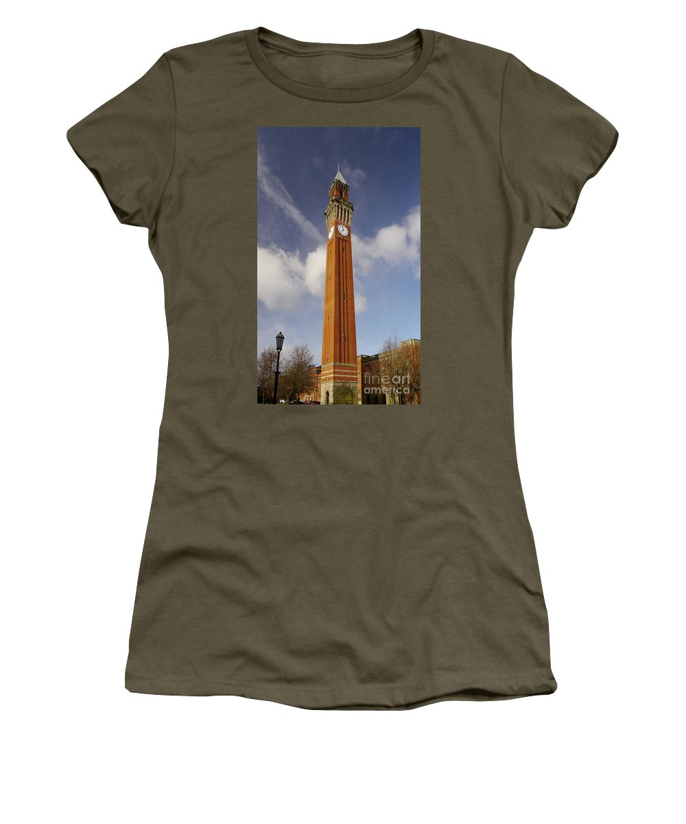 University Women's T-Shirt featuring the photograph Birmingham University by John Chatterley