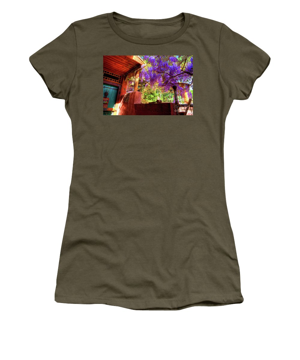 Artist House Women's T-Shirt featuring the photograph Bisbee Artist Home by Charlene Mitchell