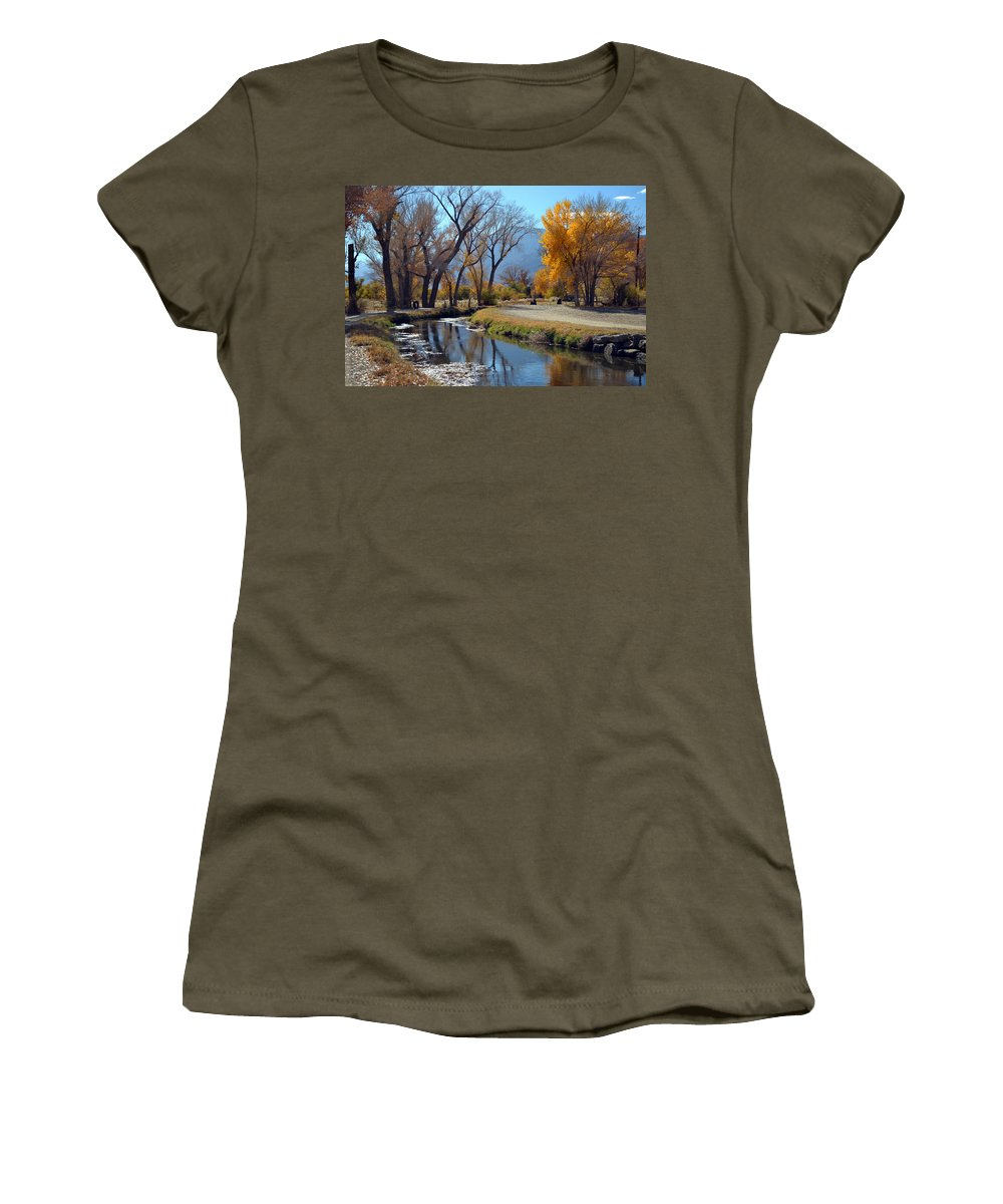 Bishop Creek Women's T-Shirt featuring the photograph Bishop Creek by Christine Owens