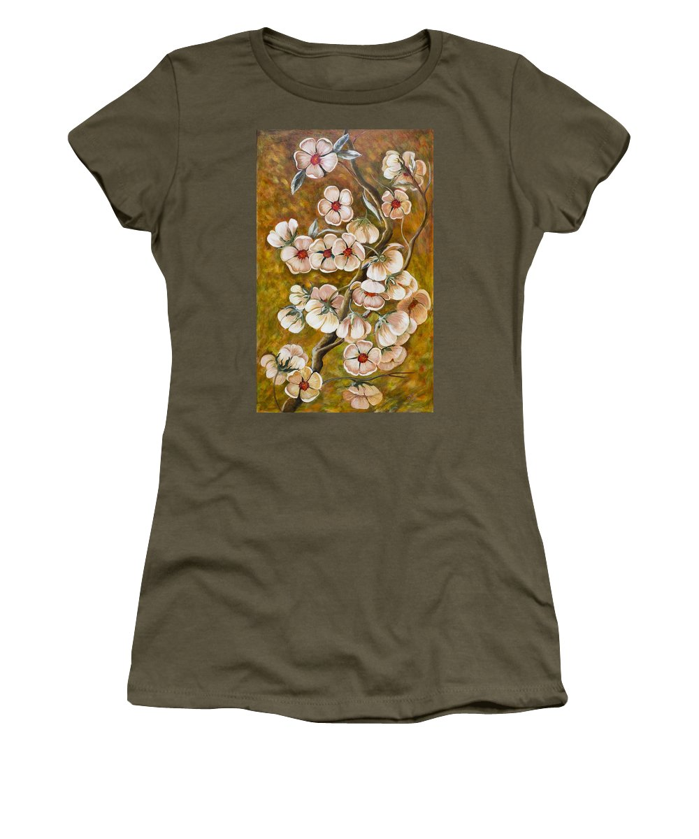 Flowers Women's T-Shirt featuring the painting Blossom Time by Gladys Berchtold