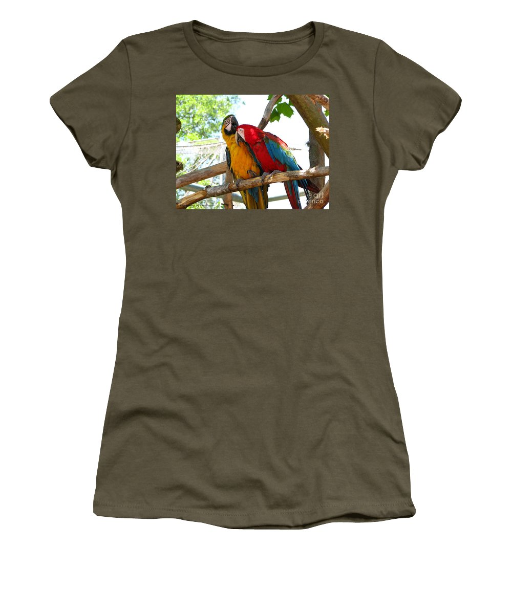 Patzer Women's T-Shirt (Athletic Fit) featuring the photograph Blue And Gold by Greg Patzer