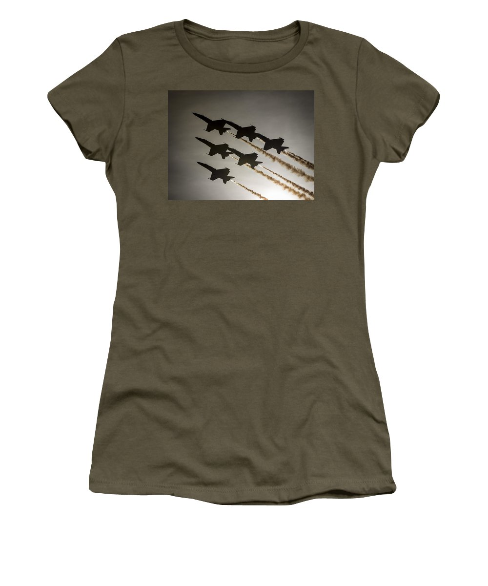 Blue Angels Women's T-Shirt featuring the photograph Blue Angels by Paul Fearn