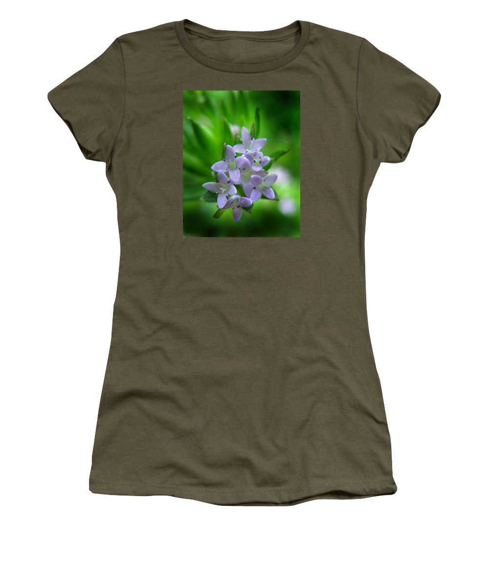 Sherardia Arvensis Women's T-Shirt featuring the photograph Wild Blue Field Madder by William Tanneberger