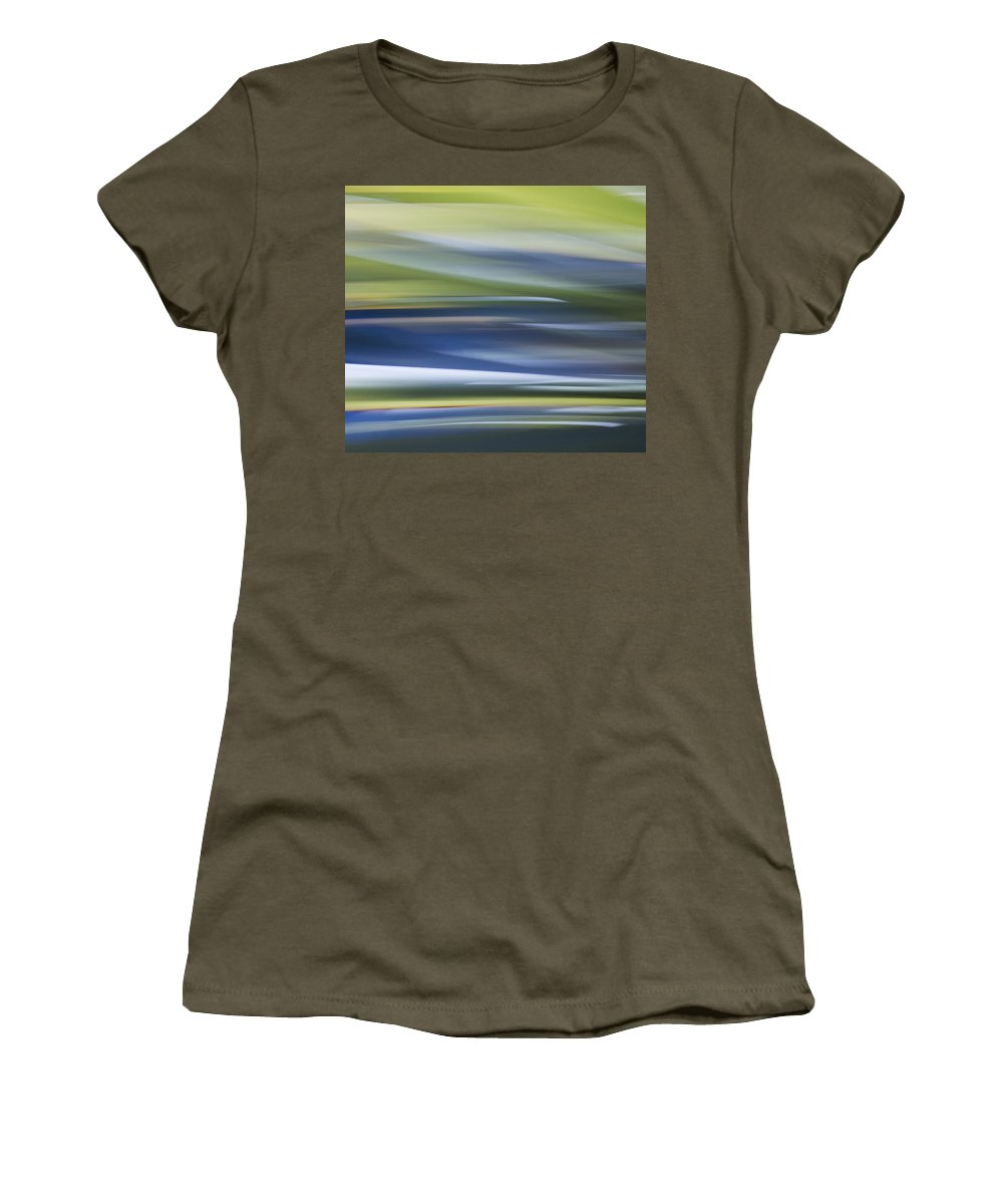 Motion Blur Women's T-Shirt featuring the photograph Blurscape by Dayne Reast