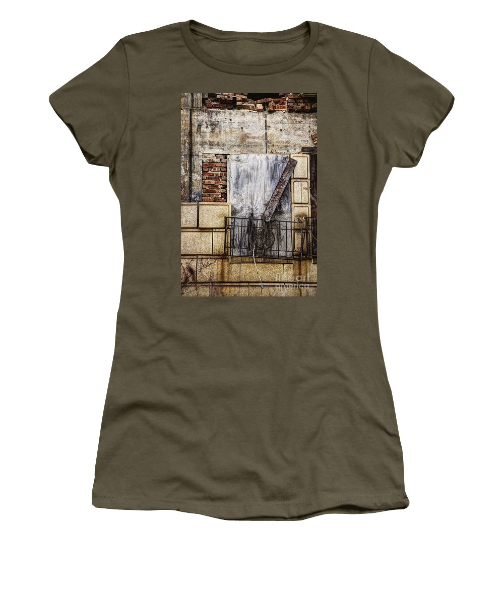 Window Women's T-Shirt featuring the photograph Boards by Margie Hurwich