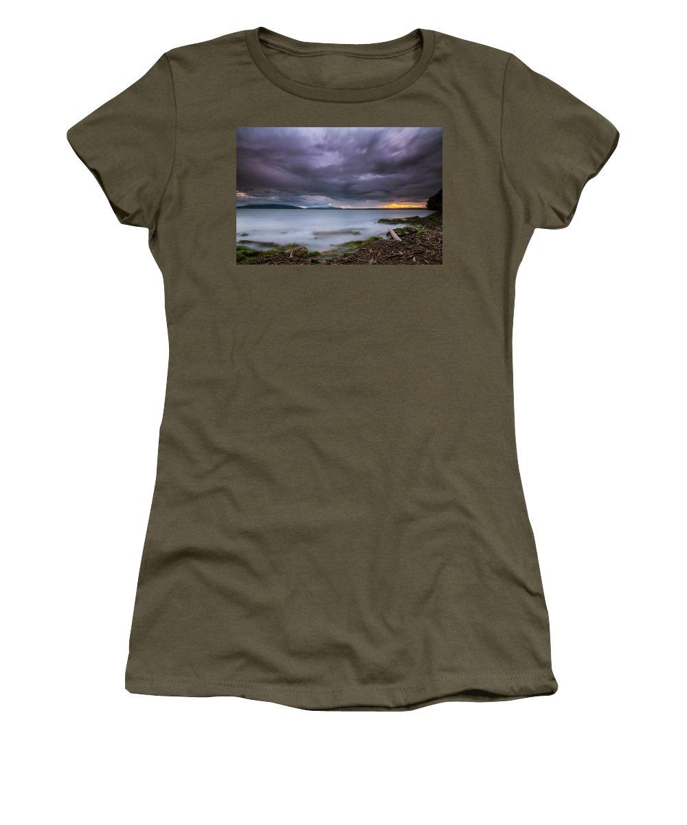 Ominous Women's T-Shirt featuring the photograph Boil Me An Ocean by Eti Reid