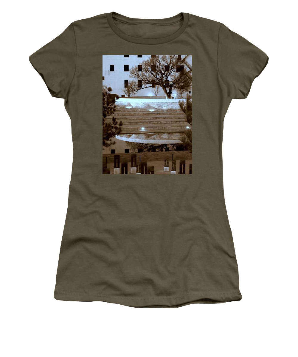Oklahoma City Bombing Memorial Women's T-Shirt featuring the photograph Bombing Memorial Okc by Bob and Kathy Frank