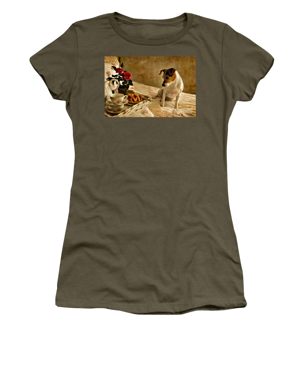 Women's T-Shirt (Athletic Fit) featuring the photograph Bon Appetit by Jean Hildebrant