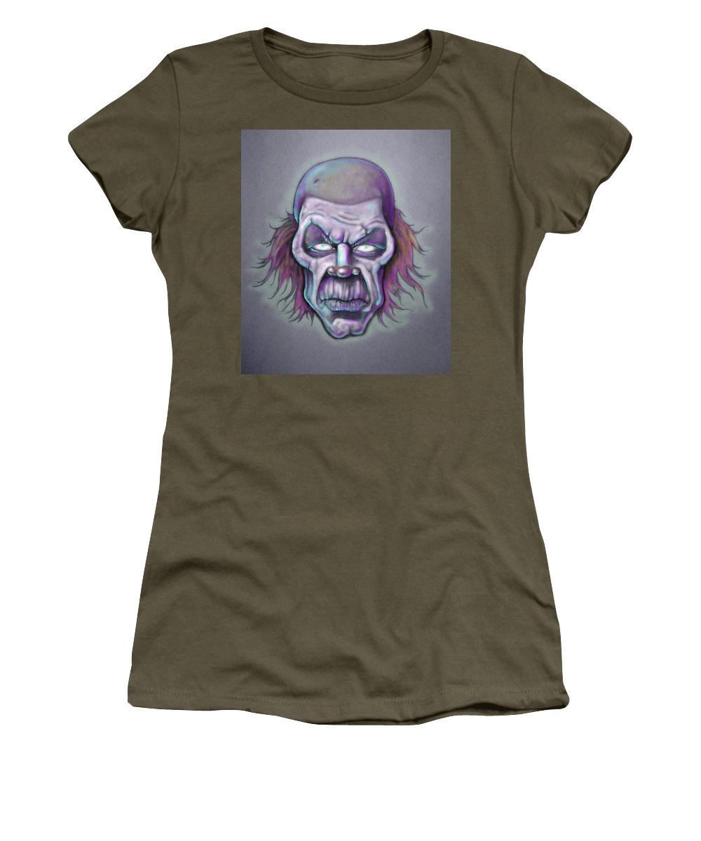 Clown Women's T-Shirt featuring the drawing Bonk by Lance Shaffer