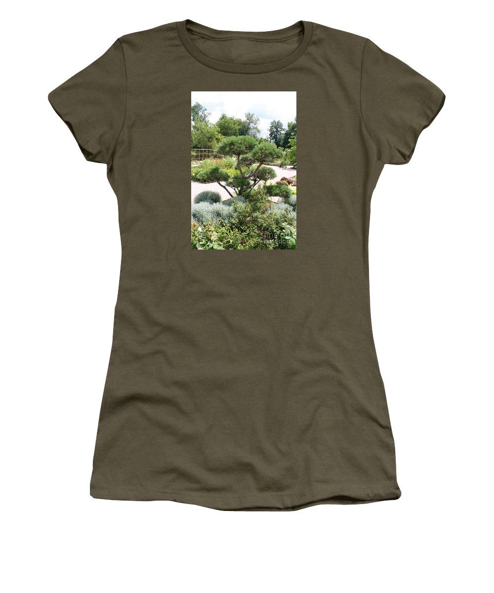 Bonsai Women's T-Shirt featuring the photograph Bonsai In The Park by Christiane Schulze Art And Photography