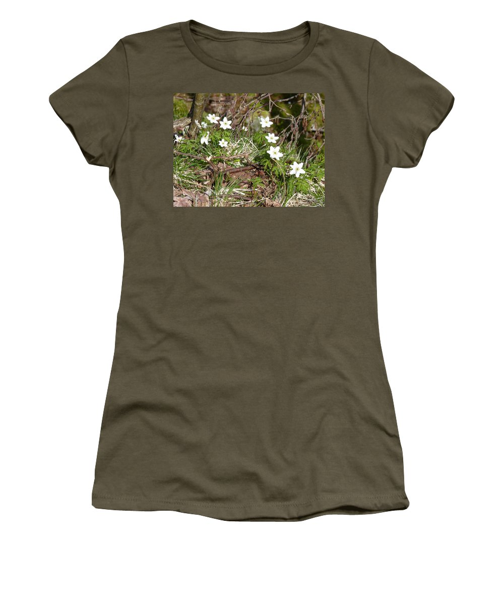 Women's T-Shirt (Athletic Fit) featuring the photograph Born Of Snow by Katerina Naumenko