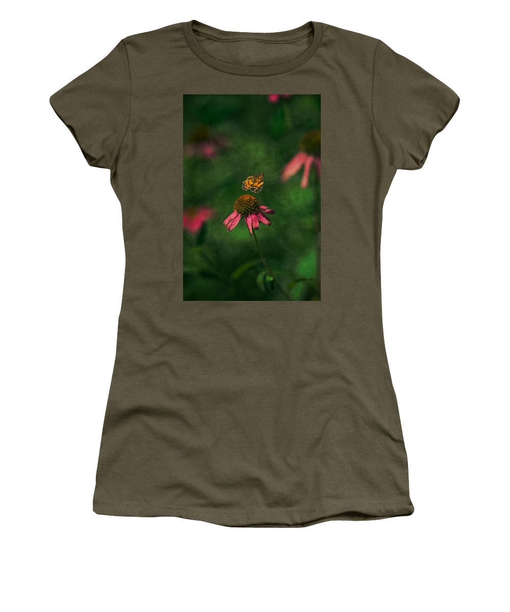 Butterflies In Nature Women's T-Shirt featuring the photograph Bounce by Kim Henderson