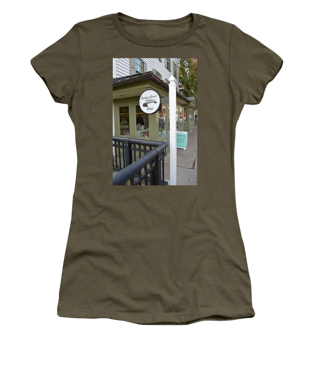 Bridge Street Soap Women's T-Shirt (Athletic Fit) featuring the photograph Bridge Street Soap by JG Thompson