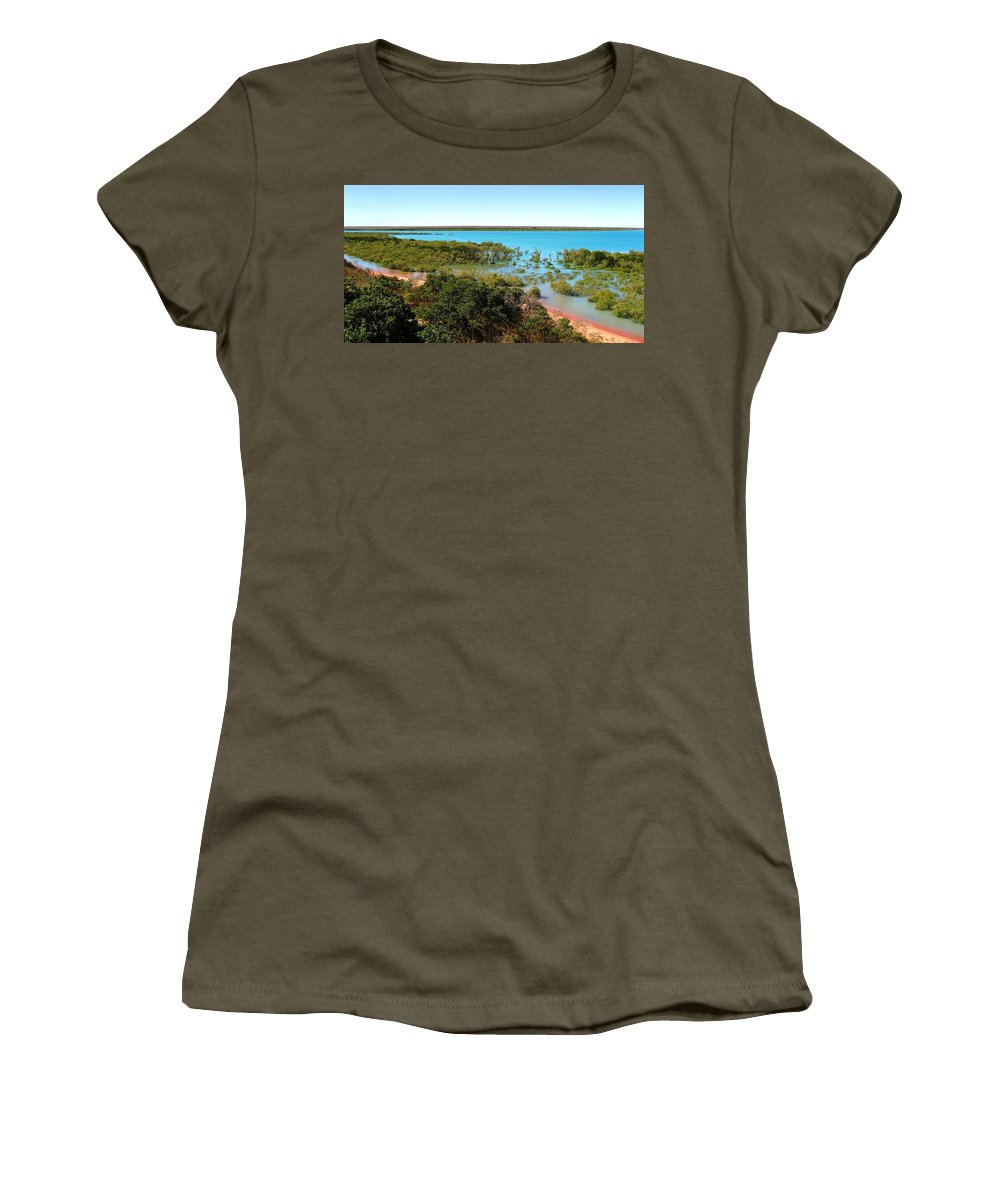 Mangrove Women's T-Shirt featuring the photograph Broome Mangroves by Vickie Roy-Sneddon
