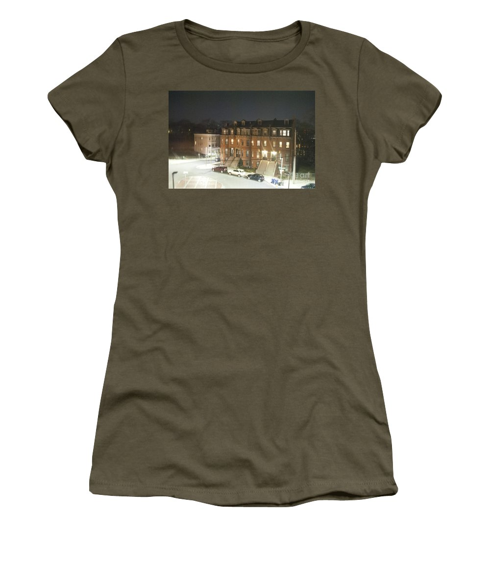 Brownstone Women's T-Shirt featuring the photograph Brownstone by Taylor Webb