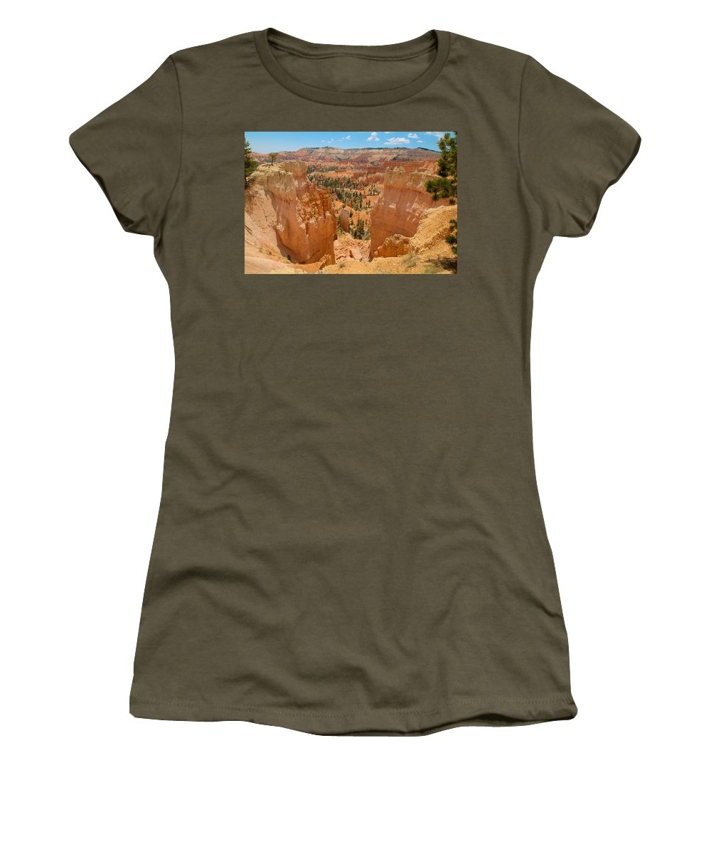 Bryce Canyon Women's T-Shirt featuring the photograph Bryce Canyon Valley Walls by Richard J Cassato