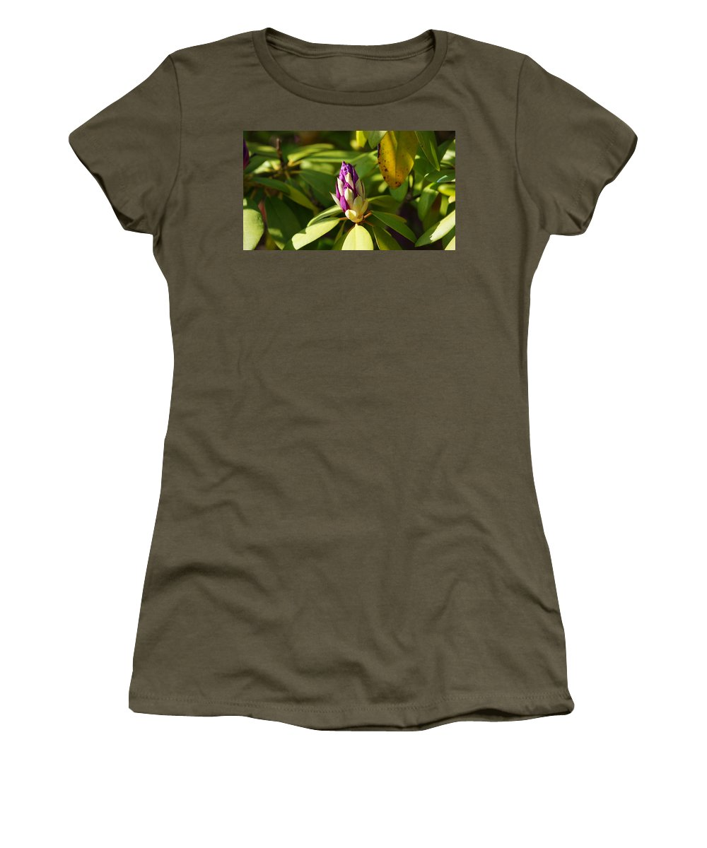 Flower Women's T-Shirt featuring the photograph Bud by Crystal Harman