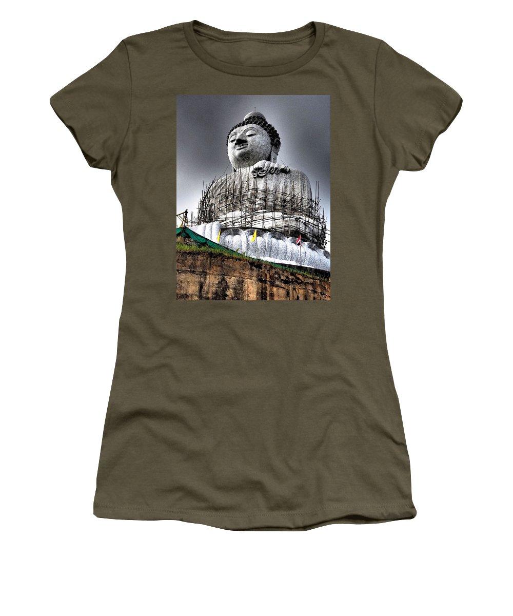 Buddha Women's T-Shirt featuring the photograph Buddha Aura by Kaleidoscopik Photography